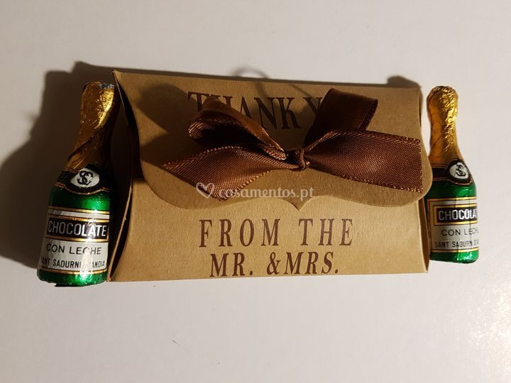 Garrafinhas chocolate
