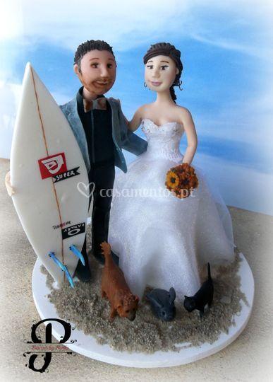 Noivo surfista