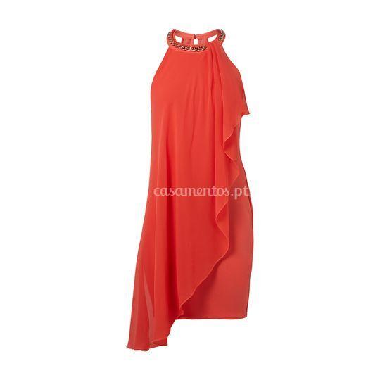 Vestido vermelho fluído Lipsy