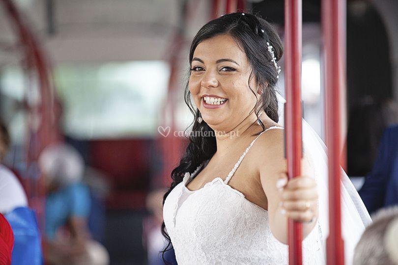 A noiva vai de autocarro