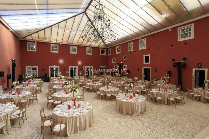 Decoração de mesas de banquete