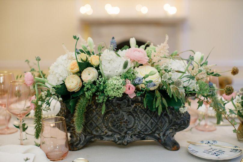 Decoração de mesa de noivos