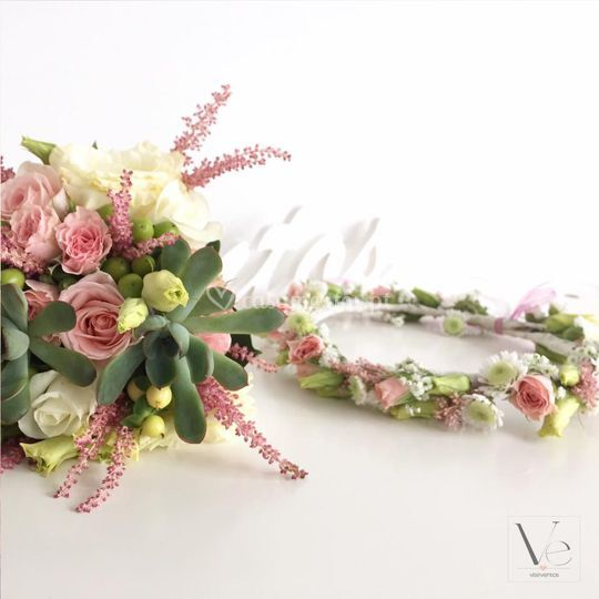 Bouquet e coroa