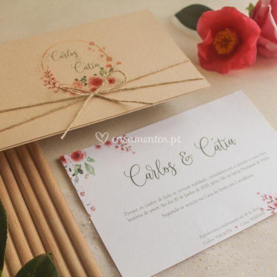 Convite Carlos & Cátia