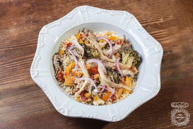 Couscous de vegetais assados