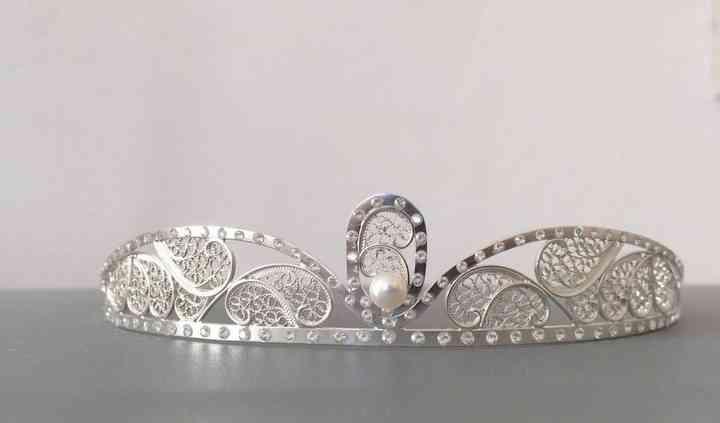 Tiara de noiva em Filigrana