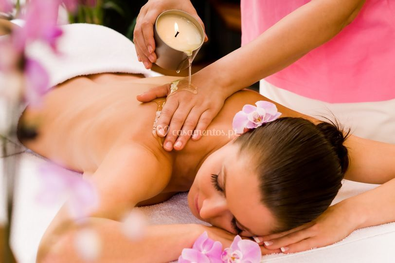 Velas de massagem quente
