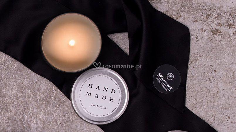 Vela de massagem quente
