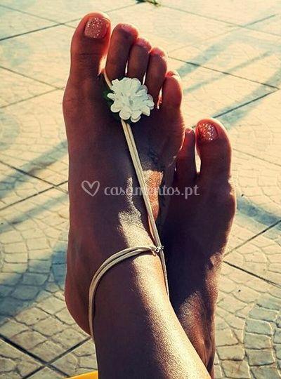 Sandália pé descalço