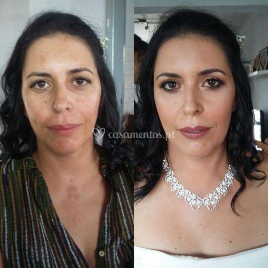 O antes e depois da noiva