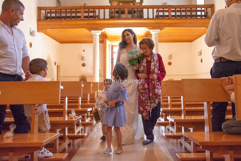 Entrada na igreja