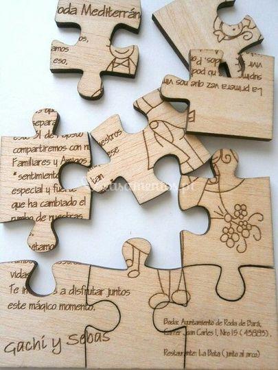 Convite de casamento puzzle
