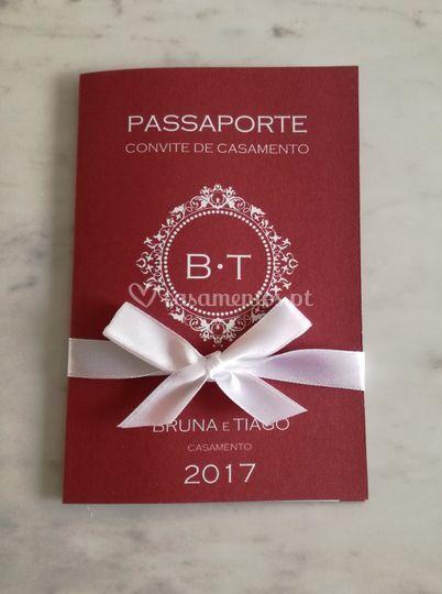Convite passaporte vermelho