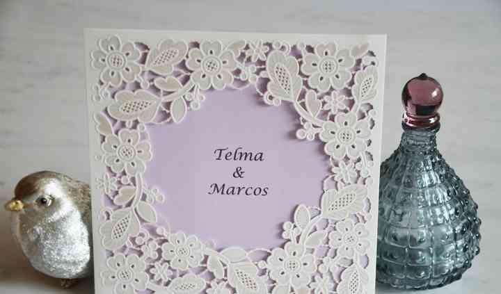 Convite floral - lilás