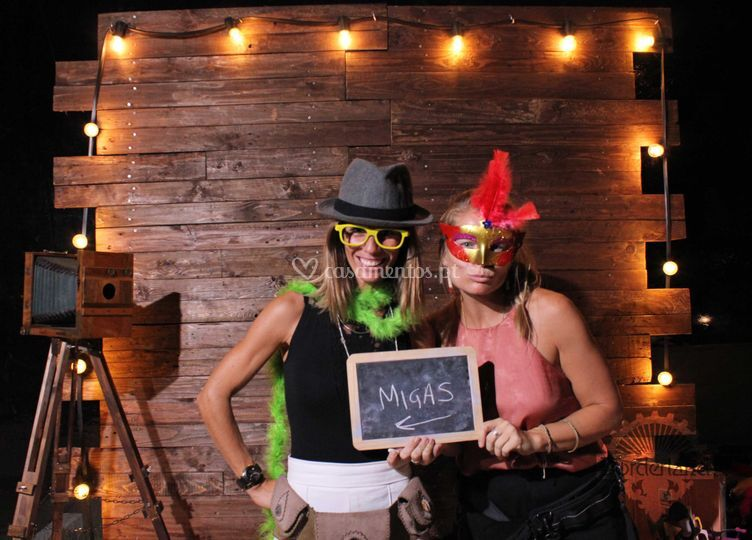 Rustic/cinema photobooth