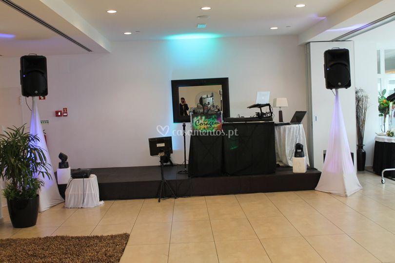 Cenário karaoke e dj