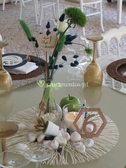 Base de mesa convidados