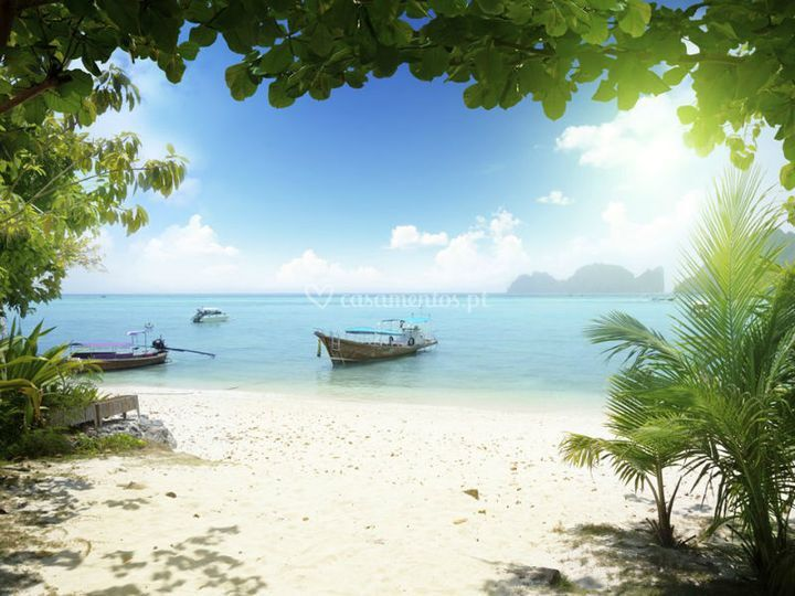 Praia idílica