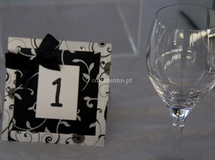 Numeração da mesa