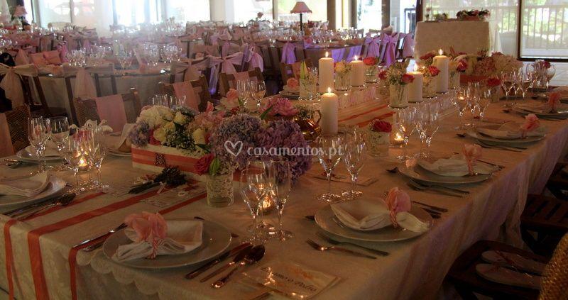 Decoração mesa interior