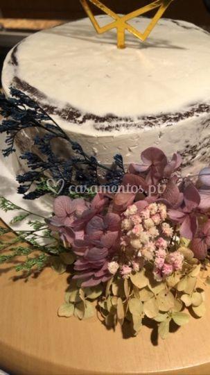 Semi-naked flores desidratadas