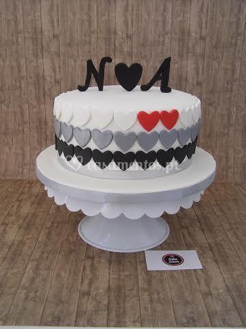 Cake corações