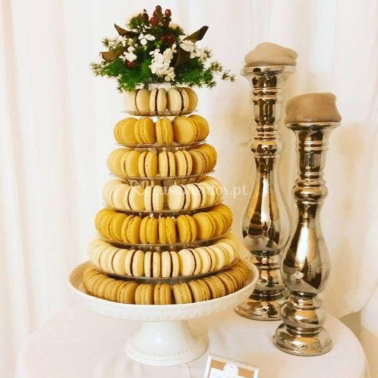 Torre de macarons - casamento