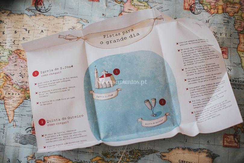 Mapa para chegar ao local