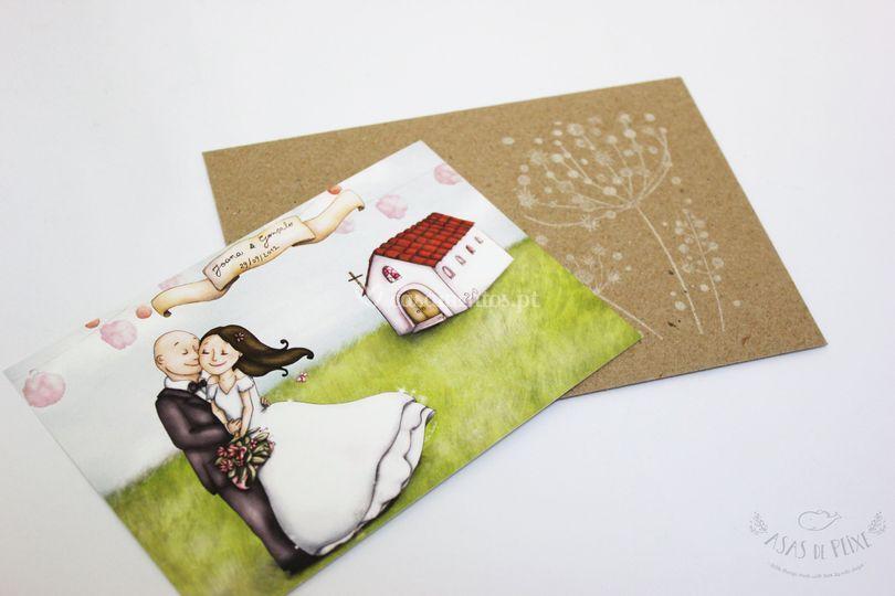 Convite - Formato Postal