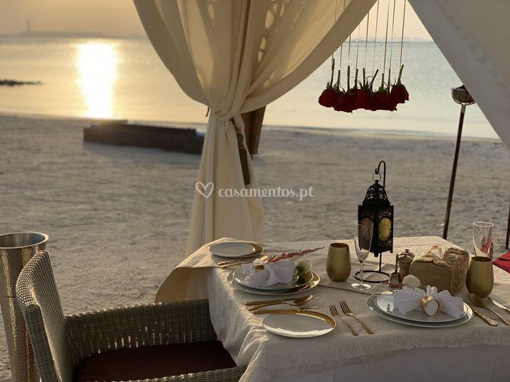 Um jantar especial à beira-mar