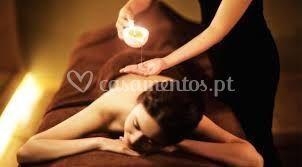 Massagem de relaxamento com ve