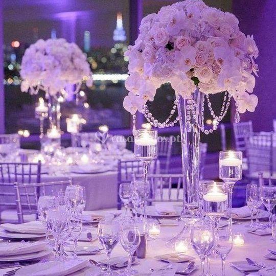 Centros mesa rosas & orquidas