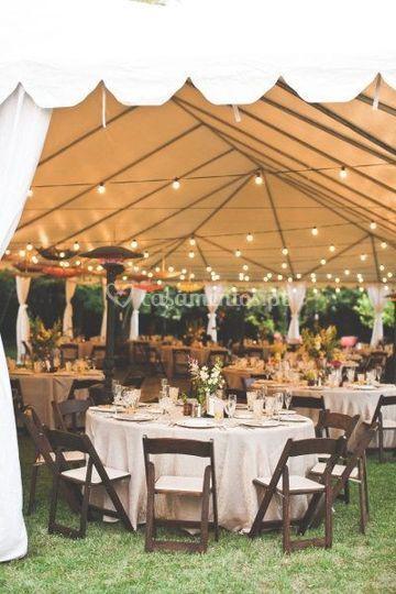 Iluminação de tendas