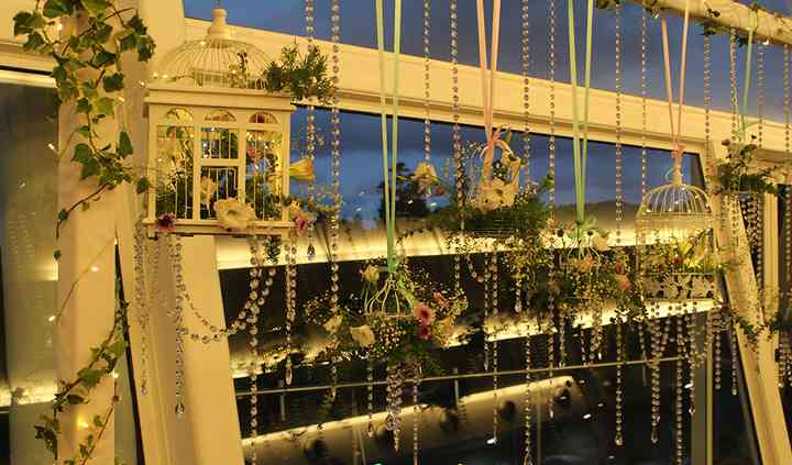 Backdrop mesa dos noivos. M&M