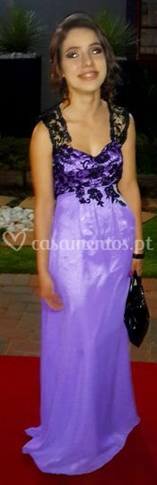 Vestido cerimónia longo lilás