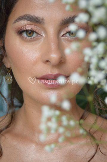 Maquilhagem simples de noiva