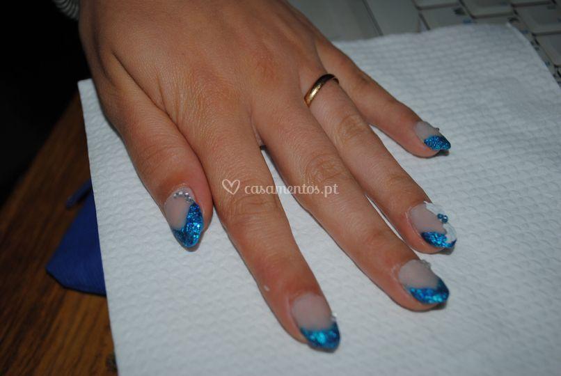 Francesa azul efeito matte 3d