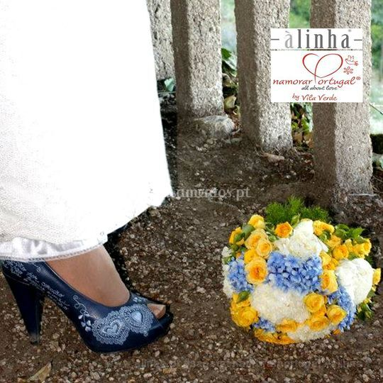 Noiva tons de azul