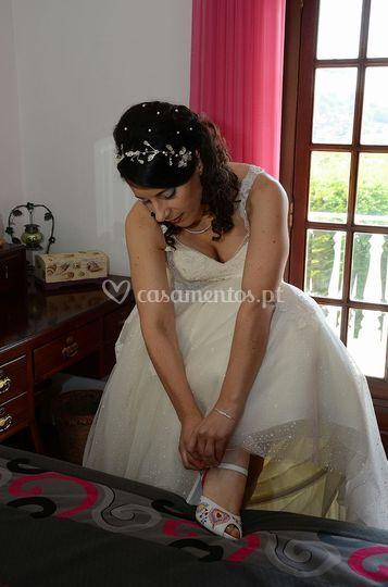 Noiva sapato branco