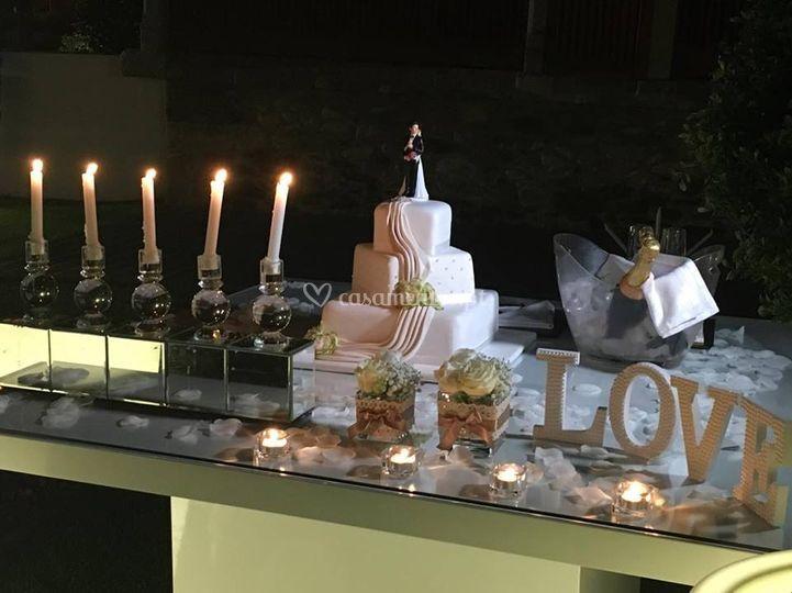 Mesa de bolo no exterior