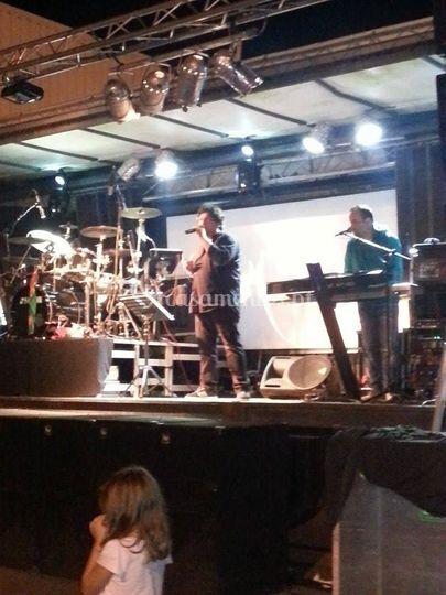 Em palco