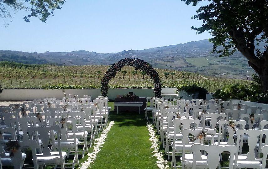 Cerimónia no douro