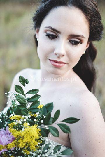 Uma linda noiva.