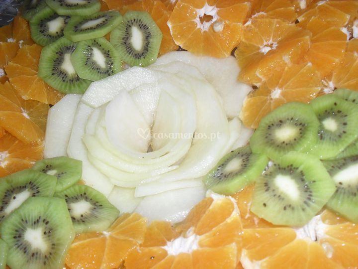 Frutas laminadas