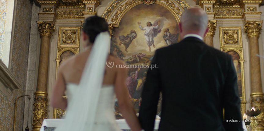 Vídeo de casamento: igreja