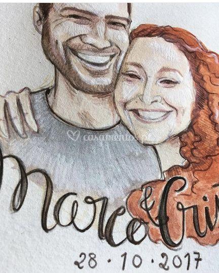Retrato Marco e Cristina