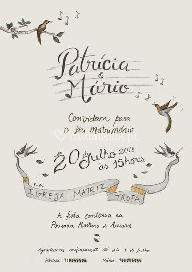 Convite Patrícia e Mário