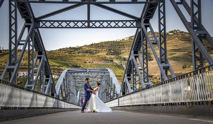 Noivos Ponte do Pinhão Douro