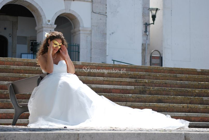 Camélia branca de Yes I do Noivas
