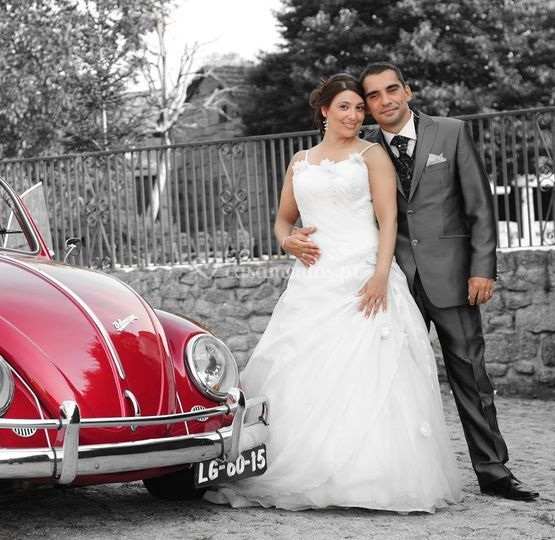 VW Carocha vermelho
